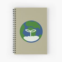 'Earth' Spiral Notebook by JibbJab Notebook Design, My Notebook, Simple Designs, Spiral, Earth, Art Prints, Printed, Paper, Awesome