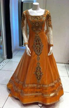 Orange Indian Dress