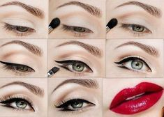 maquillage yeux pin up                                                                                                                                                                                 Plus