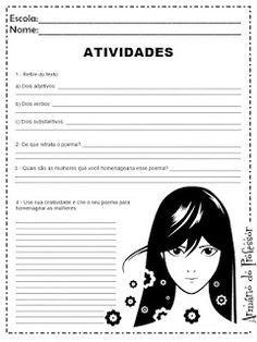 Plano de Aula - Dia Internacional da Mulher com Atividades - Armário do Professor