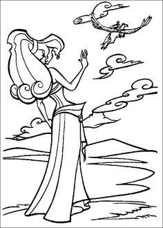 Hercules Kleurplaten voor kinderen. Kleurplaat en afdrukken tekenen nº 9