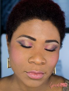 Rose Pink and Purple Mauve Smokey Eye. See more at http://updopro.com/bubblegum.html