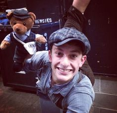 """Newsies Bear starts practicing moves!!"""