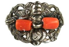 Chinese Export Coral & Sterling Silver Ring – Yourgreatfinds
