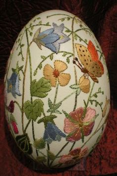 Embroidered Easter egg