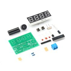 1pc C51 4 Bits Digital Electronic Clock Electronic Production Suite DIY Kits High Quality  Free shipping -- Learn more by visiting the image link. #HomeDecor