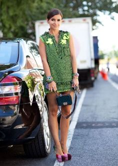 outfit street style look  greenery cor 2017