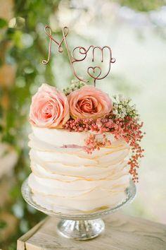 Wire Mom Cake Topper - Mom Cake Topper - Copper Cake Topper - Mother's Day Cake Topper - Rustic Chic - Gift For Mom - Mother's Day Gift Wire Mom Cake Topper Mom Cake Topper Copper Cake Topper 60th Birthday Cakes, Birthday Cakes For Women, Birthday Cake For Women Elegant, Mother Birthday Cake, Rustic Birthday Cake, Elegant Birthday Cakes, Happy Birthday, 60th Birthday Ideas For Mom, Birthday Cards