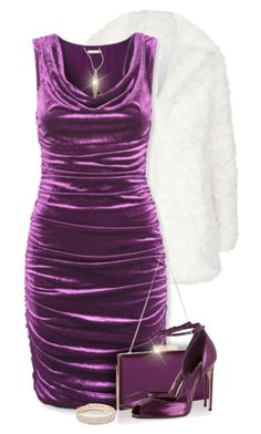 """""""New Year's Eve in Purple"""" by kiki-bi ❤ liked on Polyvore featuring Claudie Pierlot, H&M, Monsoon, Alexis Bittar, Brian Atwood and Anne Klein"""