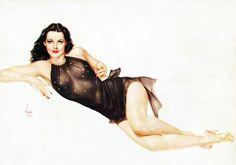 Hedy Lamarr illustration by Alberto Vargas, 1947