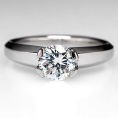 Judith Conway Engagement Ring Diamond Solitaire in Platinum