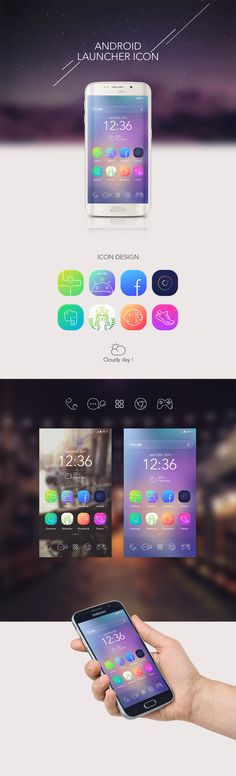Android launcher icon design on Behance