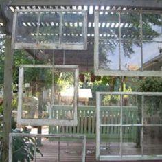 wind block or divider in the garden shelter
