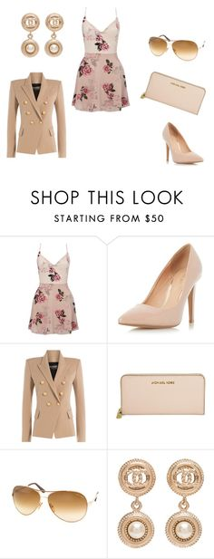 """A Day OFF!!!!!!"" by colemonique0 on Polyvore featuring Lipsy, Dorothy Perkins, Balmain, Michael Kors, Tom Ford and Chanel"