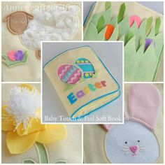 A cute handmade baby toy for easter this soft book is unique and this unique quiet book is a cute gift idea for your little ones easter basket negle Choice Image