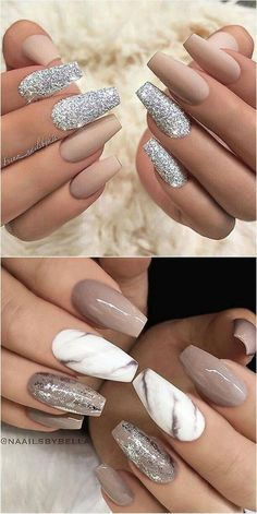 #Nägel #Nagelkunst Trends 2018 #Acrylicnaildesigns   Nails #Nagel