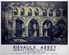 Rievaulx Abbey Helmsley Station LNER Yorkshire aug16