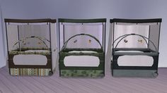 Sims 4 CC's - The Best: Baby Bed by Lena Sims