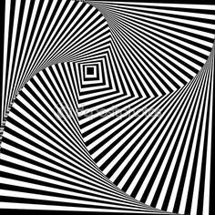 Черно-белые оптическая иллюзия — стоковая иллюстрация #66069661