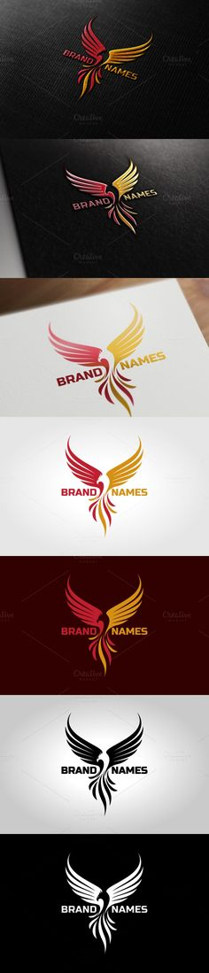 phoenix Logo template suitable for businesses and product names. Best Logo Design, Business Logo Design, Griffin Logo, Logo Branding, Branding Design, Stamped Business Cards, Ship Logo, Phoenix Design, Hotel Logo
