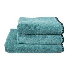 Serviette de toilette en coton éponge eucalyptus Issey Harmony | DECOCLICO Eucalyptus, Towel, Cotton Napkins, Blue Green, Toilets, Women's, Towels