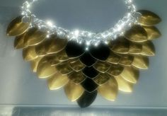 November 2nd: brown and black aluminum scales necklace