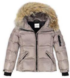 SAM. Girl's Blake Fur-Trim Puffer Coat