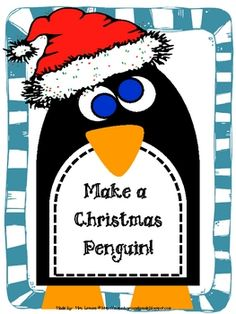 Make a Christmas Penguin, or take off the hat to have a pretty cute penguin craftivity!...