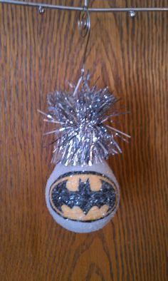 Batman keepsake light bulb ornament