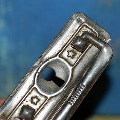 vintage  escutcheon... key hole plate...   Jan 54 by CoolVintage