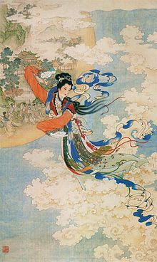 Chang'e or Chang-o, originally know as Heng'e, is the Chinese goddess of the Moon. She s the subject of several legends in Chinese mythology, most of which incorporate several of the following elements. Houyi the archer, an elixir of life, a benevolent or malevolent emperor, and of course, the Moon.