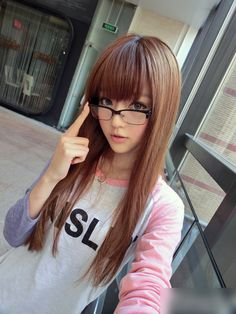 Long sleek hairstyles with bangs Kawaii Hairstyles, Sleek Hairstyles, Hairstyles With Bangs, Girl Hairstyles, Asian Hairstyles, Glasses Hairstyles, Hairstyles Pictures, Japanese Hairstyles, Creative Hairstyles