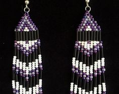 Native American Style Beaded Earrings by SynStormInspirations