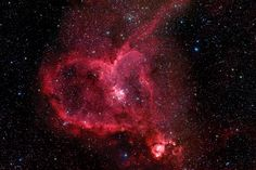 Heart Nebula The Heart Nebula, IC 1805, Sh2-190, lies some 7500 light years away from Earth and is located in the Perseus Arm of the Galaxy in the constellation Cassiopeia. This is an emission nebula showing glowing gas and darker dust lanes. The nebula is formed by plasma of ionized hydrogen and free electrons. en.wikipedia.org