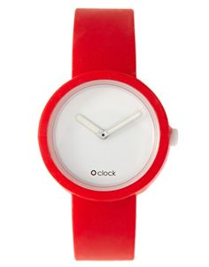 Red O'Clock Watch
