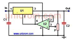 Regulador de voltaje variable con 7805 y 741