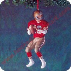 1995 Football Legends #1  Joe Montana, San Francisco 49ers 1995 Hallmark Keepsake Series Ornament