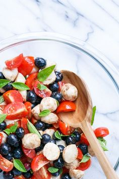 Blueberry Caprese Salad   red, white and blue