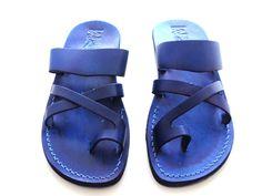 SALE ! Leather Sandals ROMAN Men's Shoes Jesus Jerusalem Strappy Thongs Flip Flops Flats Slides Slippers Biblical Colored Footwear Fisherman by Sandalimshop on Etsy