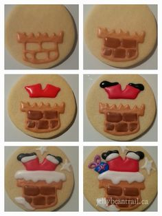 How to make Santa Chimney cookies picture tutorial