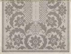 Professione Donna: Schemi per il filet: Centro rettangolare fiorito