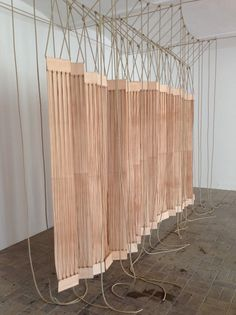 """Leonor Antunes, """"a secluded and pleasant land. in this land I wish to dwell"""" 2014, Berlin Biennale 8"""