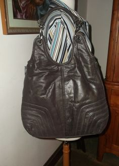 BCBG MAXAZRIA Brown Distressed Leather Java Shopper Tote Purse   BCBGMAXAZRIA  TotesShoppers Shopper Tote 551b6446f4b94