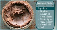 Homemade Nutella Recipe - The Coconut Mama