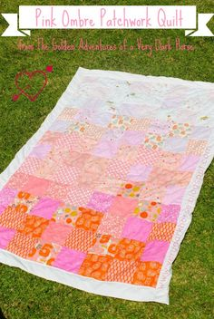Precut patterns from Moda:)   Pink Ombre Patchwork QuiltTutorial on the Moda Bake Shop. http://www.modabakeshop.com