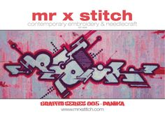 Graffiti Cross Stitch 005 Panika by MrXStitch on Etsy. This is the fifth in our Graffiti Series, featuring the abstract futurism style of Slovenian artist Panika. We realise that different people like different pattern styles, so each Mr X Stitch design comes with three patterns: - Symbols - Colour Blocks - Symbols and Colour Blocks. The pattern chart comes with instructions, floss list and a mini-poster of the design as well!