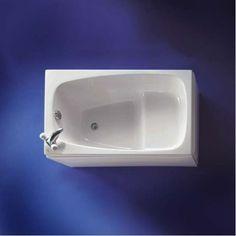 Soaker tub on pinterest walk in bathtub japanese for Small baths 1200