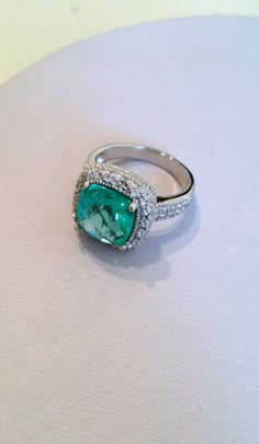 Vintage Sterling Silver Aquamarine Estate Jewelry Ring - Vintage Sterling Silver Aquamarine Estate Jewelry Ring Via Etsy.
