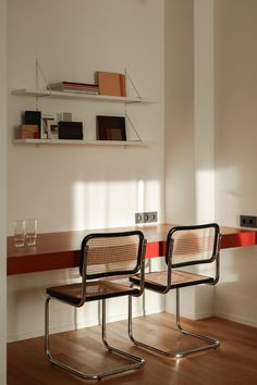 Workplace design Home Office Ideas Cesca chair Design workplace Küchen Design, Chair Design, Furniture Design, House Design, Recycled Furniture, Design Color, Plywood Furniture, Handmade Furniture, Design Files
