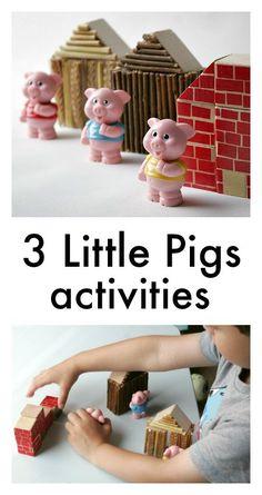 Three little pigs activities - classic fairy tale activities for preschool